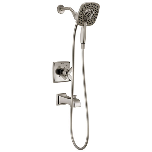 Delta Ashlyn In2ition 1-Handle Tub and Shower Faucet Trim Kit in Stainless Steel Finish (Valve Not Included) 685395