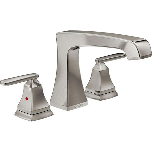 Delta Ashlyn 2-Handle Deck-Mount Roman Tub Faucet Trim Kit in Stainless Steel Finish (Valve Not Included) 685398