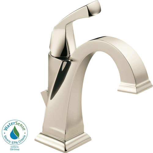 Delta Dryden Single Hole 1-Handle Bathroom Faucet in Polished Nickel 702290