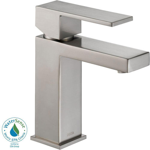 Delta Ara Single Hole 1-Handle Bathroom Faucet in Stainless 702292