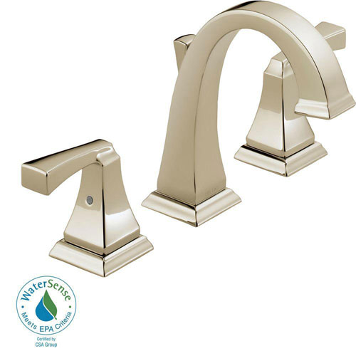 Delta Dryden 8 inch Widespread 2-Handle Bathroom Faucet in Polished Nickel 702300
