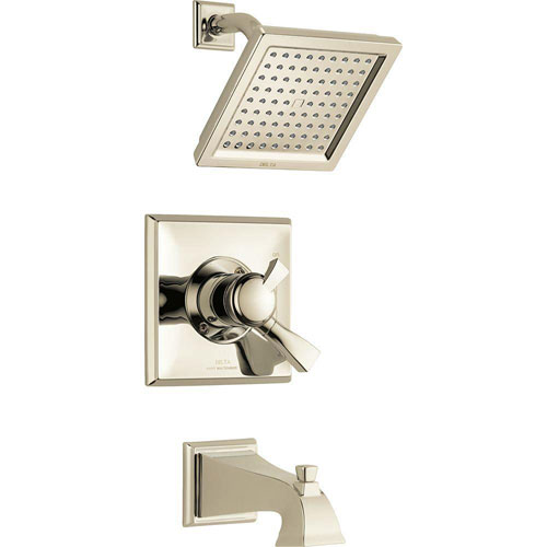 Delta Dryden 1-Handle Tub and Shower Faucet Trim Kit in Polished Nickel (Valve Not Included) 702316
