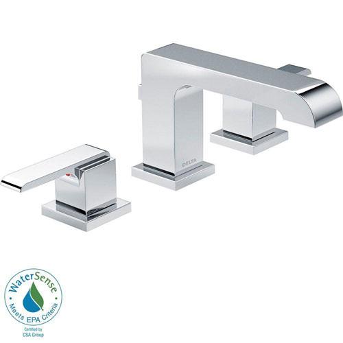 Delta Ara 8 inch Widespread 2-Handle High-Arc Bathroom Faucet in Chrome 704312