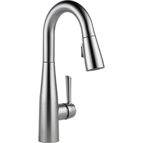 Delta Essa Single-Handle Bar Faucet in Arctic Stainless with MagnaTite Docking 718194