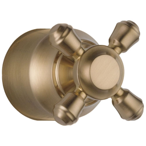 Delta Cassidy Collection Champagne Bronze Finish Diverter / Transfer Valve Cross Handle - Quantity 1 Included DH595CZ