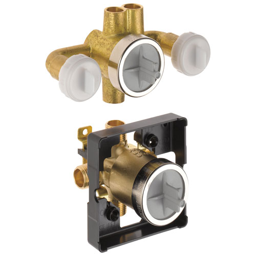 Delta 6 Setting Jetted Shower Rough-In Valve with Extra Outlet DR18000XO
