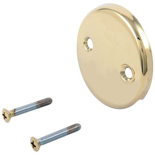 Delta Polished Brass Finish Overflow Plate and Screws DRP31556PB