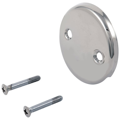 Delta Chrome Finish Overflow Plate and Screws 208221
