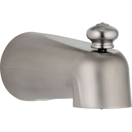 Delta Leland 5-1/2 inch Stainless Steel Finish Pull-Up Diverter Tub Spout 643953