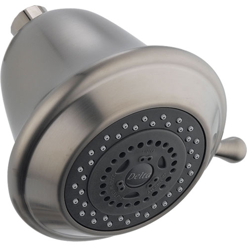 Delta 3-Setting Touch-Clean Shower Head in Stainless Steel Finish 571828