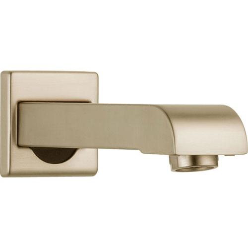 Delta Arzo Champagne Bronze Modern 7 inch Metal Non-Diverter Tub Spout 565546