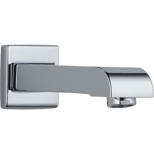 Delta Arzo Modern 7 inch Metal Non-Diverter Tub Spout in Chrome 588644