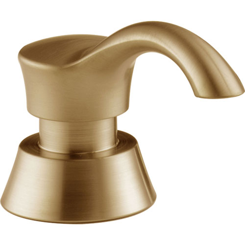 Delta Pilar Modern Champagne Bronze Deck Mount Soap and Lotion Dispenser 555870