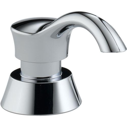 Delta Pilar Modern Chrome Deck Mount Soap and Lotion Dispenser 476358