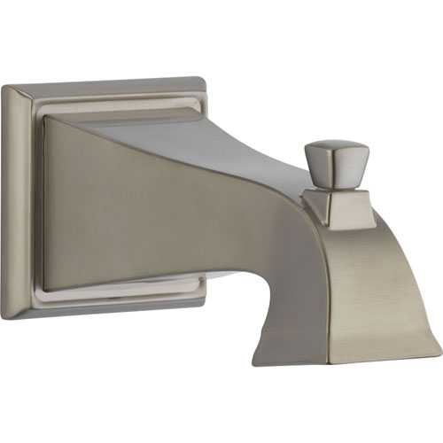Delta Dryden Modern Stainless Steel Finish Pull-Up Diverter Tub Spout 455869