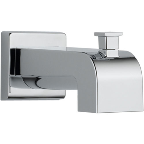 Delta Arzo and Vero 7-1/8 in. Modern Chrome Pull-Up Diverter Tub Spout 588658