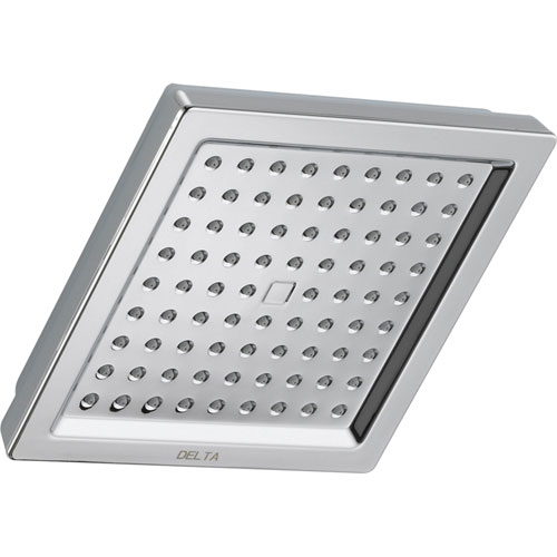 Delta Dryden Modern 6.5-inch Chrome Finish Square Rain Showerhead 596992