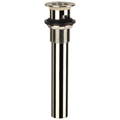 Delta Polished Nickel Finish Vessel Sink Bowl Metal Grid Strainer Drain DRP6346PN