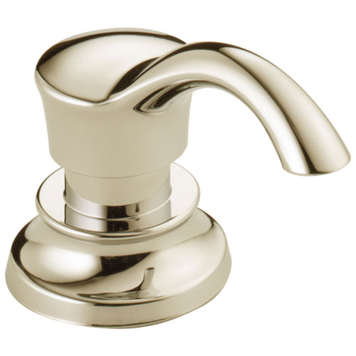 Delta Cassidy Collection Polished Nickel Finish Soap / Lotion Dispenser and Bottle DRP71543PN