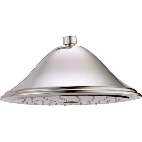 Delta 1-Spray 9-3/8 inch Polished Nickel Finish Large Rain Showerhead 584304