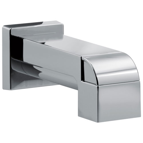 Delta Ara Collection Polished Nickel Finish Modern Pull-Up Diverter Tub Spout DRP75435PN