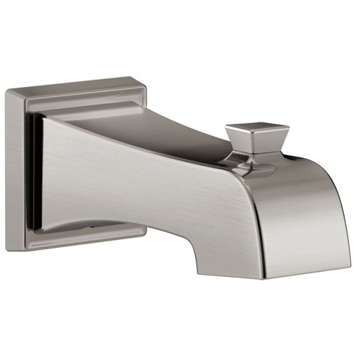 Delta Ashlyn Collection Stainless Steel Finish Modern Wall Mount Non Diverter Tub Spout DRP77092SS