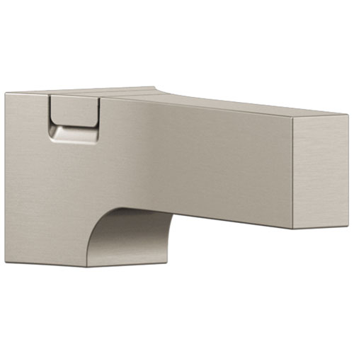 Delta Zura Collection Stainless Steel Finish Modern Tub Spout with Pull Up Diverter DRP84412SS