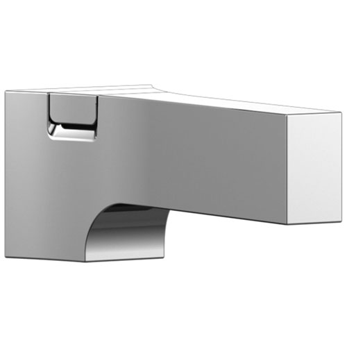 Delta Zura Collection Chrome Finish Modern Tub Spout with Pull Up Diverter DRP84412