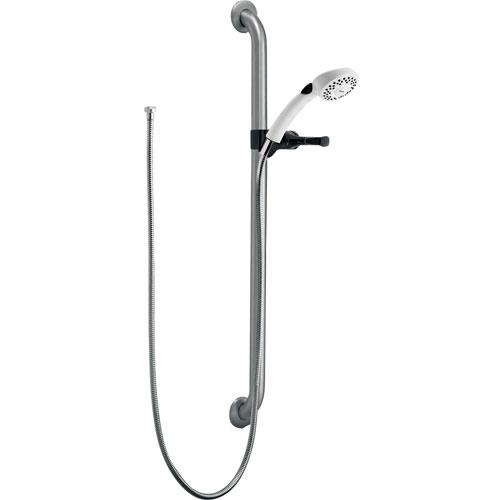 Delta Chrome 1-Spray Grab Bar with Hand Held Shower Head Sprayer 362589