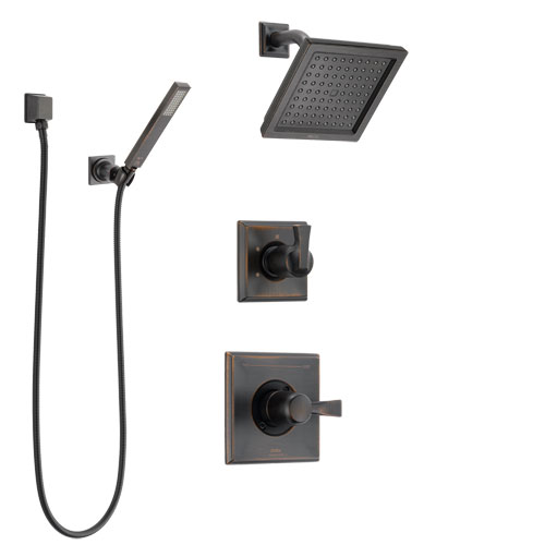 Delta Dryden Venetian Bronze Finish Shower System with Control Handle, 3-Setting Diverter, Showerhead, and Hand Shower with Wall Bracket SS142511RB5