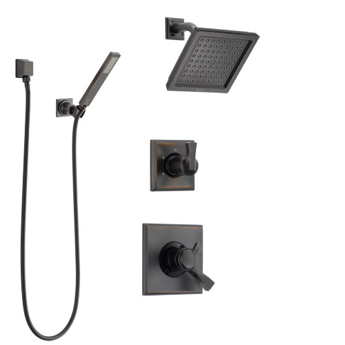 Delta Dryden Venetian Bronze Shower System with Dual Control Handle, 3-Setting Diverter, Showerhead, and Hand Shower with Wall Bracket SS172511RB5