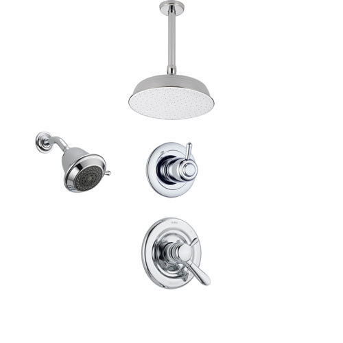 Delta Lahara Chrome Shower System With Dual Control Shower