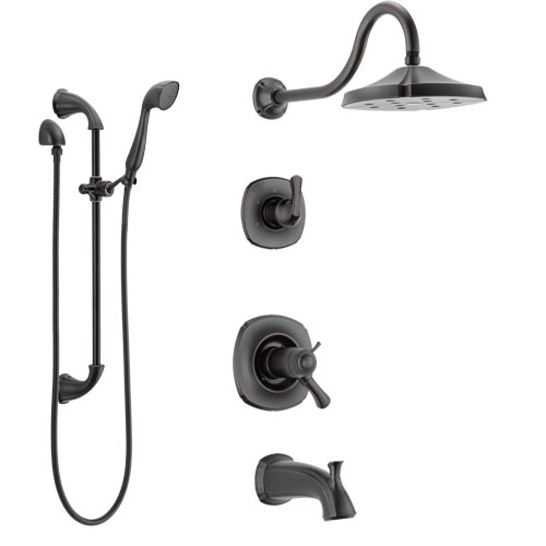 Delta Addison Venetian Bronze Tub and Shower System with Dual Thermostatic Control Handle, Diverter, Showerhead, and Hand Shower SS17T4921RB4