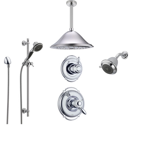 Delta Victorian Chrome Shower System With Thermostatic