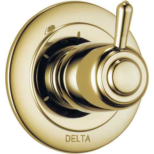 Delta 3-Setting Polished Brass Shower Diverter Single Handle Trim Kit 560967