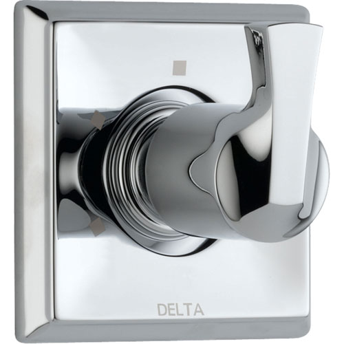 Delta 3-Setting Modern Chrome Single Handle Shower Diverter with Valve D179V