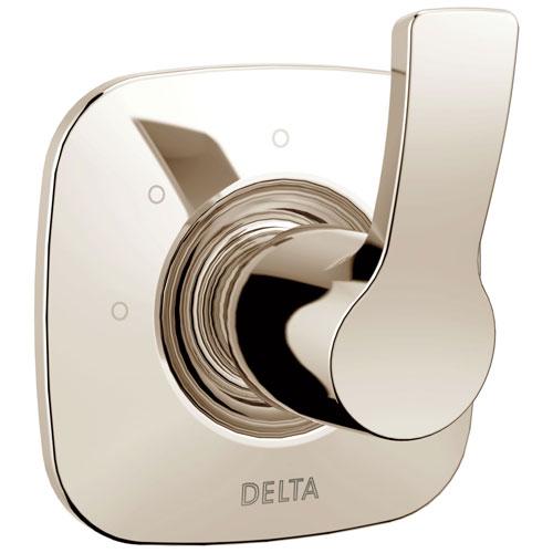 Delta Tesla Collection Polished Nickel Finish Modern 3-Setting 2-Port Single Handle Shower Diverter Includes Rough-in Valve D2060V