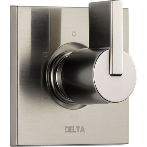 Delta Vero 3-Setting Stainless Steel Finish Square Shower Diverter w/Valve D186V