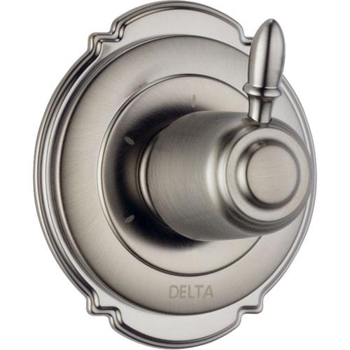 Delta Victorian 3-Setting Stainless Steel Finish Shower Diverter w/ Valve D190V