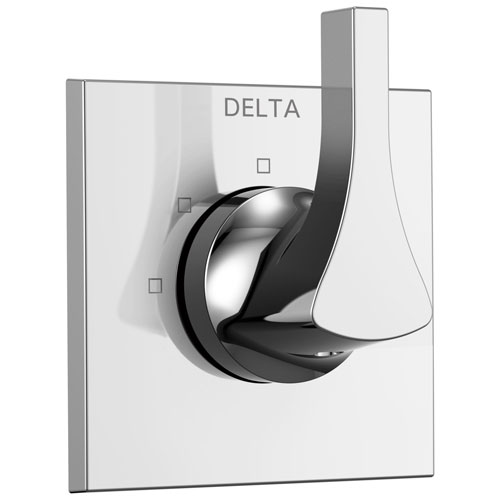 Delta Zura Collection Chrome Finish Modern 3-Setting 2-Port Single Handle Shower Diverter Trim Kit (Valve Sold Separately) 743953