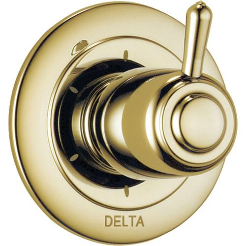 Delta 6-Setting Polished Brass Single Handle Shower Diverter Trim Kit 560982