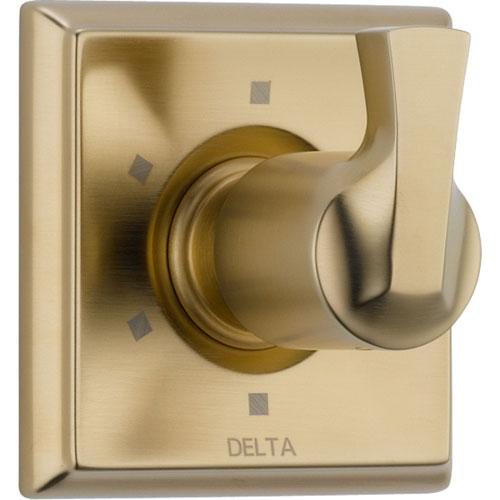 Delta 6-Setting Champagne Bronze Single Handle Shower Diverter Trim Kit 555994