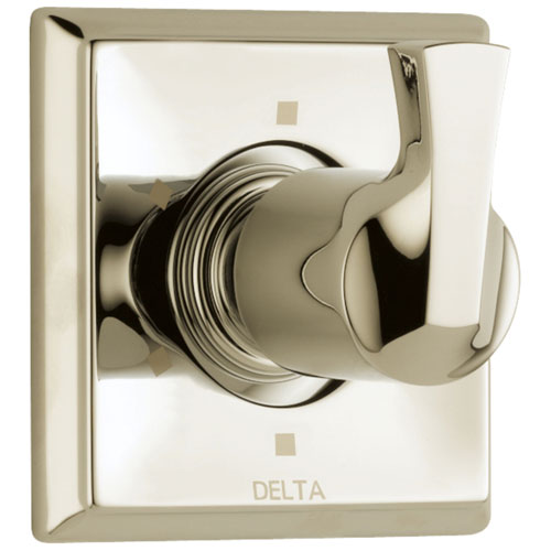 Delta Dryden Collection Polished Nickel Finish 6-Setting 3-Port Contemporary Single Lever Shower Diverter Trim Kit (Requires Rough-in Valve) DT11951PN