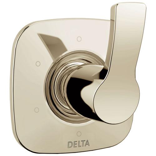 Delta Tesla Collection Polished Nickel Finish 6-Setting 3-Port Modern Single Handle Shower Diverter Includes Rough-in Valve D2054V