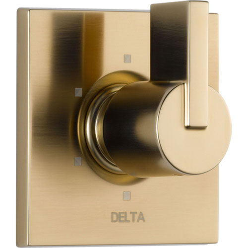 Delta Vero 6-Setting Champagne Bronze 1 Handle Shower Diverter with Valve D152V