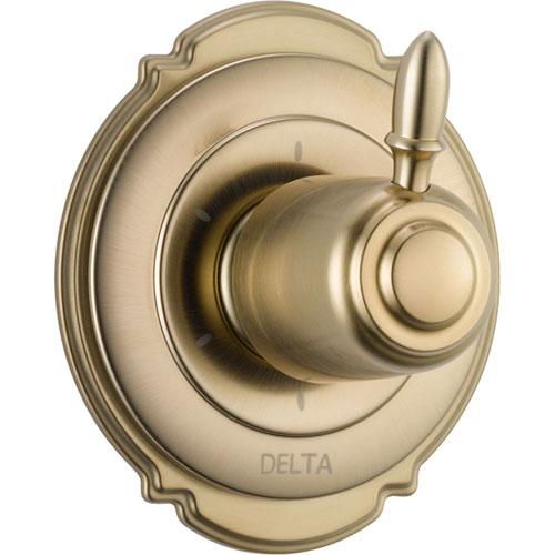 Delta Victorian 6-Setting Champagne Bronze 1-Handle Shower Diverter Trim 555992