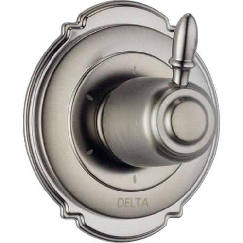 Delta Victorian 6-Setting Stainless Steel Finish Shower Diverter w/ Valve D158V