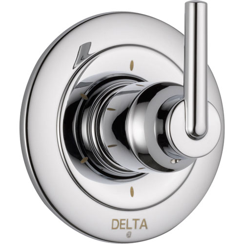 Delta Trinsic 6-Setting Chrome Single Handle Shower Diverter Trim Kit 590192