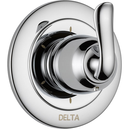 delta shower trim kit push button diverter stainless lowes linden setting chrome single handle