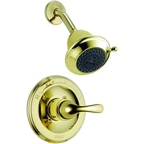 Delta Classic Single Handle Polished Brass Shower Only Faucet with Valve D617V